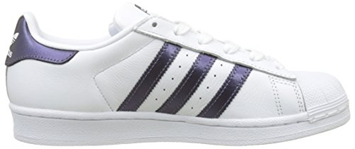 brand new 3b4d1 b5404 Metallic Superstar White Mujer Zapatillas W Para Night purple 0 Blanco  footwear footwear Adidas White AqvwA