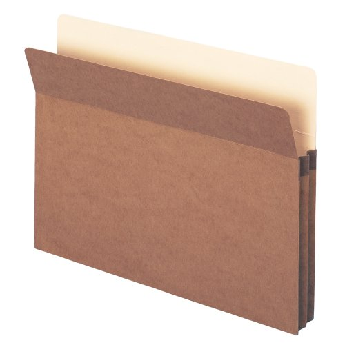 "Smead File Pocket, Straight-Cut Tab, 1-3/4"" Expansion, Letter Size, Redrope, 25 per Box (73214)"