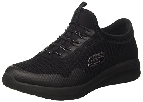 0 Image Negro para Skechers Synergy Mujer Mirror 2 Black Entrenadores IqWW4ExwB1