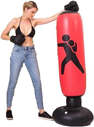 インフレータブルパンチングバッグタンブラー自立ターゲットトレーニングタワーボクシングコラムパッド