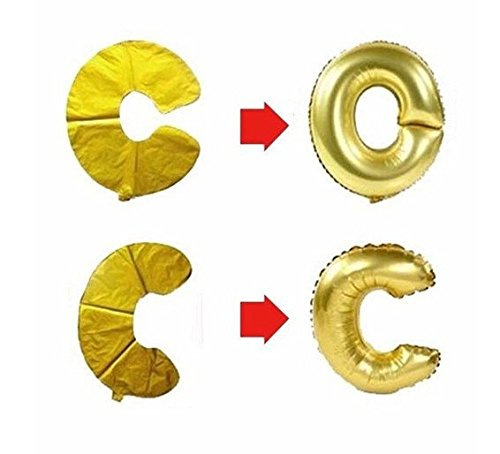 C Spin Silver Letter Balloon Decorations product image