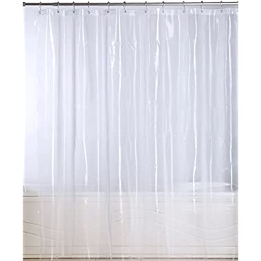 Utopia Bedding 72 x 72 inch 10-Gauge Water Proof Anti-bacterial and Mildew Resistant Shower Curtain-Liner with Rust Proof Metal Grommets - Clear