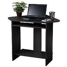Fineboard FB-CD03-BK Home Office Compact Corner Desk, Black