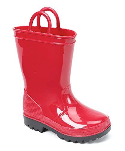 SkaDoo Red Little Kid Youth Rain Boots 2 M US Little Kid -