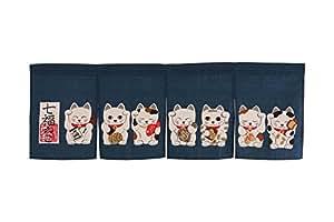Noren (Japanese Curtain) seven Beckoning Cat/Maneki Neko 17-507 85×30cm from Japan