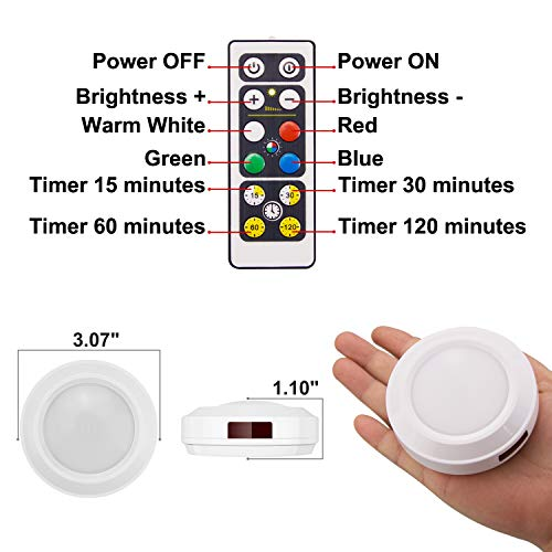 Touch lights with remote