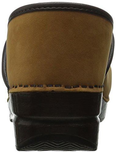 Piel de Nubuck Zuecos Wheat para mujer Professional Leather Dansko vqax66