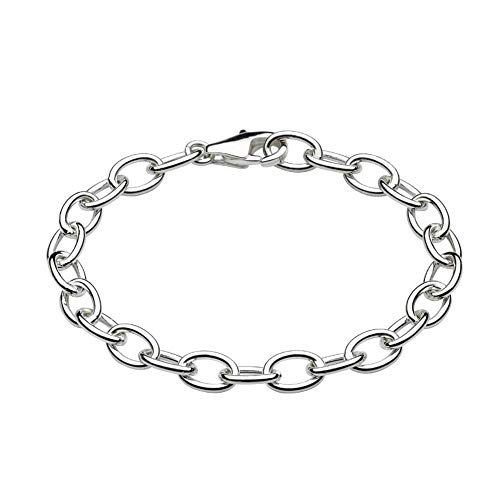 (Children And Teens Sterling Silver Rolo Chain Bracelet For Charms)