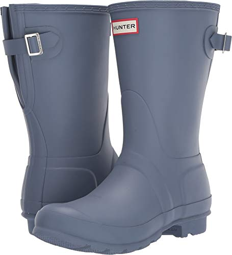 (Hunter Women's Original Short Back Adjustable Rain Boots Gull Grey 6 M US )