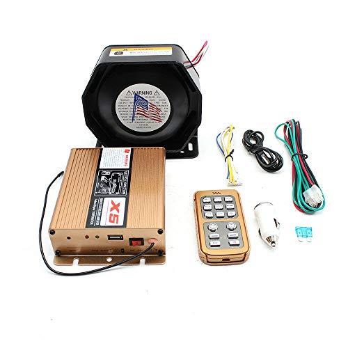 - Wireless Alarm Siren Horn 800W 18 Sound Loud Car Warn Alarm Horn Emergency Warning Siren Horn with PA Speaker MIC System