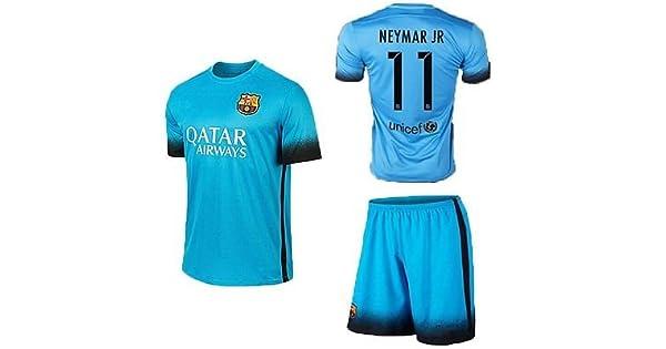 FC Barcelona Neymar Away (Azul) Fútbol Uniforme Kids 2015 - 2016   Amazon.com.mx  Deportes y Aire Libre 0d52eeec97275