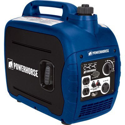 Powerhorse Gas Powered Portable Inverter Generator   2 000 Starting   1 600 Running Watts  Quiet Carb Compliant Electric Generator