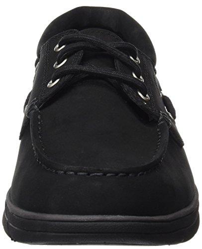 Timberland Men's Bradstreet 3 Eyeblack Nubuck Boat Shoes, Black Black (Black Nubuck)
