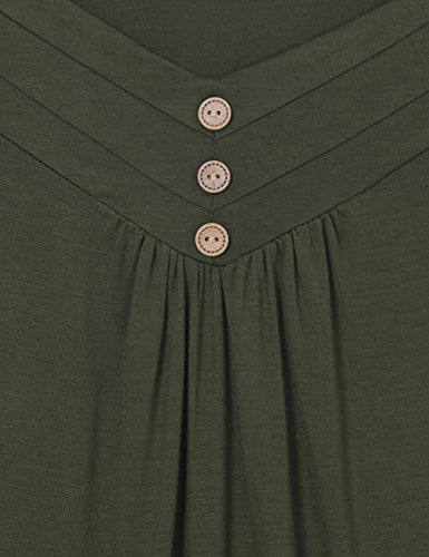 Messic - Camiseta sin mangas - para mujer verde oliva