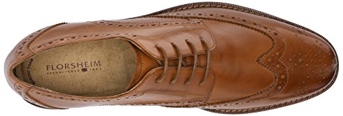 Florsheim Mens Montinaro Wingtip Dress Scarpa Stringata Oxford Sella Abbronzatura