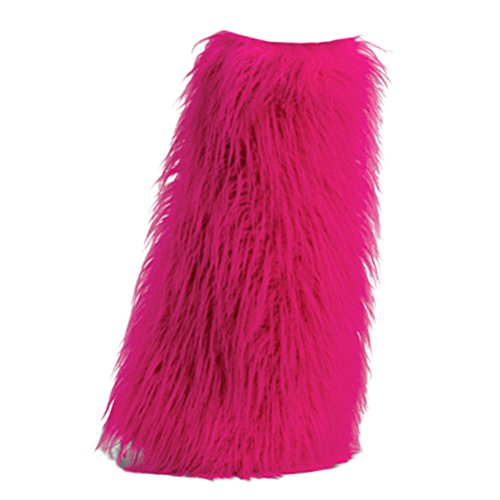 Summitfashions Womens Boot COVERS Sexy Faux Fur Boot SLEEVE Costumes Accessory Hot Pink Fuzzy (Sleeve Fur Boot Faux)