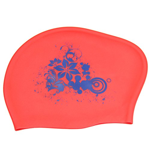 Peacoco Large Silicone Swim Cap for Women Kids