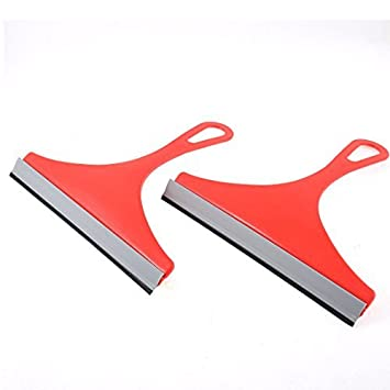 Limpiador eDealMax Vehículo de Cristal de Ventana del cepillo raspador de limpiaparabrisas escobilla de goma 2pcs