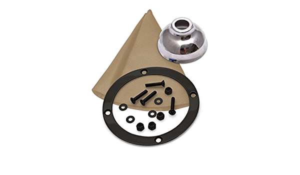American Shifter 408622 TH350 Shifter 10 Trim Kit Push Btn Cap BLK Boot Ringed Knob for D80AE
