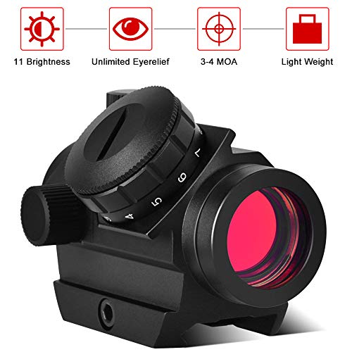 Cycvis Red Dot Sight -【1x25mm, 3 MOA, 11 Brightness】Ultralight Riflescope, Micro Red Dot Sight,【Multi-Coated Lenses 100% Fogproof, Waterproof & Shockproof】 Optics Scope, Matte Black