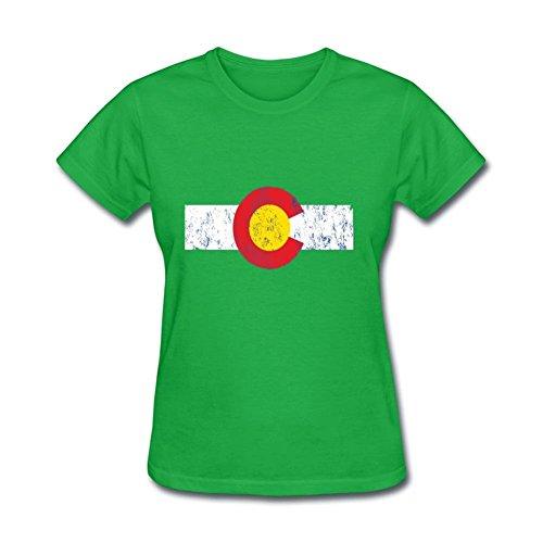 Women's Men's Vintage Colorado Flag Hoodie Short Sleeve - Colorado Mills Directions