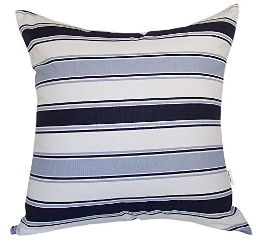 TangDepot Decorative Handmade Stripe Cotton Throw Pillow Cover, Pillow Sham, Euro sham, European Indoor/Outdoor Cushion Cover - (24