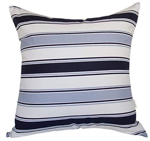 (TangDepot Decorative Handmade Stripe Cotton Throw Pillow Cover, Pillow Sham, Euro sham, European Indoor/Outdoor Cushion Cover - (24