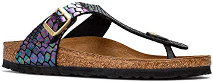 Junior Girls Birkenstock Gizeh BF Sandals in Shiny Snake