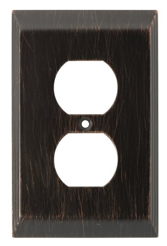 Franklin Brass 126406 Stately Single Duplex Outlet Wall Plate / Switch Plate /  Cover, Venetian - Outlet Liberty
