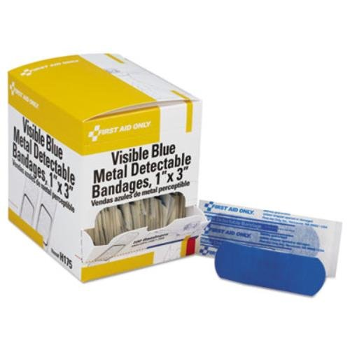 First Aid Only FAOH175 - Adhesivo Azul Metal Detectable Vendajes: Amazon.es: Deportes y aire libre