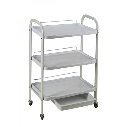 Facial Trolley - Huini 3 Tier Salon Beauty Facial Salon Supply Storage Trolley Cart CD- DT-266A