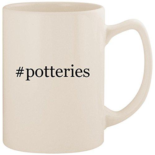 #potteries - White Hashtag 14oz Ceramic Statesman Coffee Mug Cup ()