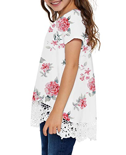 storeofbaby Girls Casual Tunic Tops Short Sleeve Loose Soft Blouse T-Shirt for 4-13 Years 4