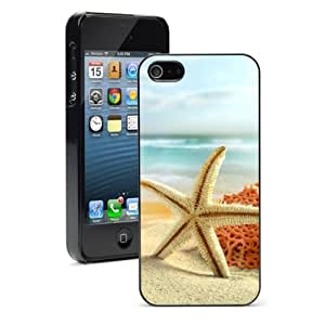 For Apple iPhone 4 4S Hard Case Cover Starfish on Sandy Beach -01