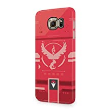 Pokemon GO Team Valor Themed Pokedex Hard Plastic Snap-On Case Cover For Samsung Galaxy S6
