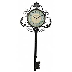 Large Colorado Key Clock Hanging Large Big Huge Metal Over Sized Key Clock