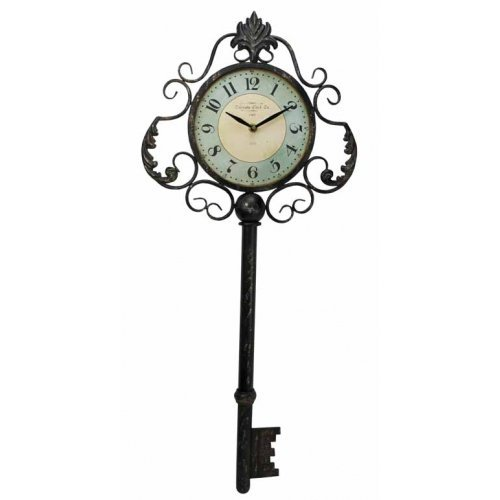 Large Colorado Key Clock Hanging Large Big Huge Metal Over Sized Key Clock by HomeOffice