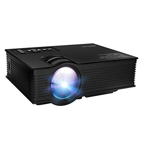 APEMAN LED Mini Projector LCD Portable Video Projector Home Theater Projector Support 1080P with HDMI/VGA/USB/SD Card/AV Input