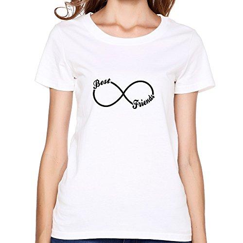 Women's BFF Best Friends Forever Tee Shirt,White T Shirt By HGiorgis XXL White