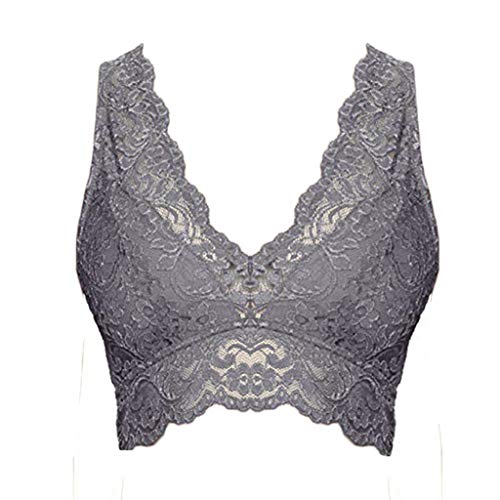 (ZEFOTIM✿Underwear Women Briefs Cotton,Soft Underwear for Women,Comfort Breathable Underpants 5 Pack(Gray,Large))