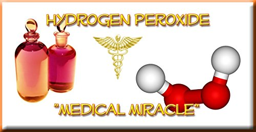 3% Hydrogen Peroxide Food Grade - 4 Bottles - Recommended by: The One Minute Cure Book