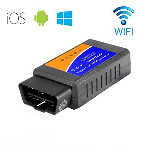 GXG-1987 WiFi Wireless OBD II Mini OBD 2 Auto Car Diagnostic Scanner Tool Adapter Reader Scan Code Tester for iPhone 6S 5 iPad4 iPod Mini iOS PC Windows, Android Device