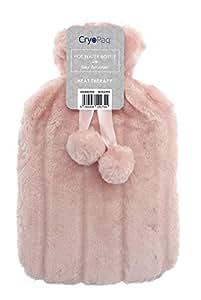 Cryopaq - Bolsa de agua caliente de lujo con la mejor funda de piel peluda sintética (2 l)