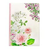 Frontia A4 Size 8.27'' x 11.69'' Clear Plastic Folder Flower Design Cute Froral Japan Import