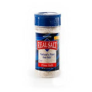 Redmond Real Salt, Nature's First Sea Salt, Fine Salt, 4.75 Ounce Shaker (1 Pack)
