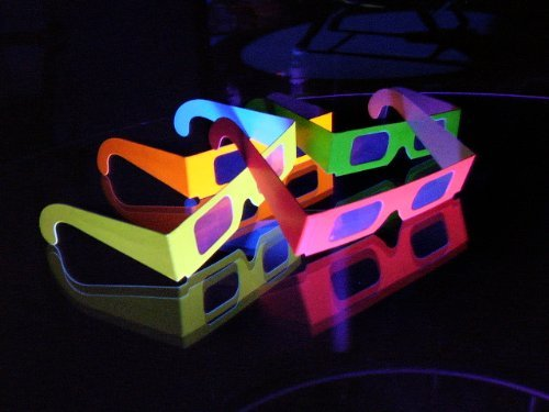 Neon Prism - 8 Pairs Prism Diffraction Fireworks Glasses - For Laser Shows, Raves by 3Dstereo Glasses