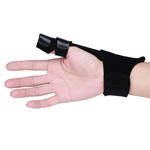 Fingerschiene,Finger Splint Einstellbare Aluminium Finger Splint Hand Unterstützung Recovery Brace Schutz Injury...