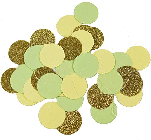 Amazon.com: Mint Cream Gold Birthday Party Decoration Kit ...