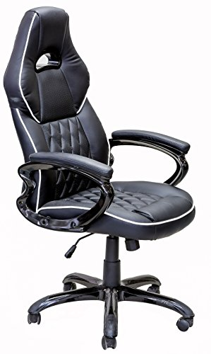 Viscologic Series Yf-2736 Gaming Racing Style Swivel Office Chair, Black