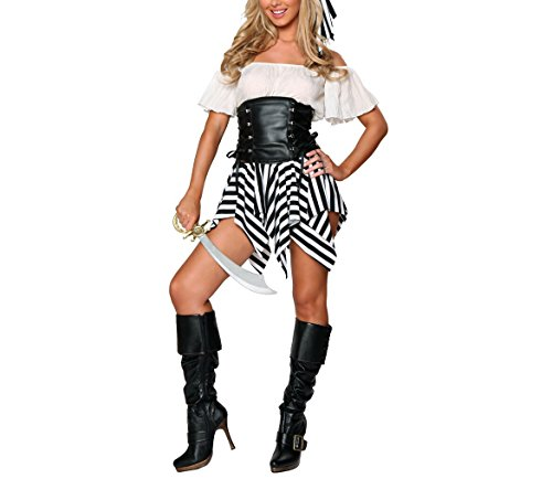 Evie Costume Ideas (Berser Disney Pirates Of The Caribbean Elizabeth Deluxe Girls Costume Angelica Adult Costume (Medium))